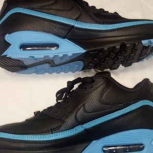 "Undefeated x Air Max 90 "" Black Blue Fury"" NWT"